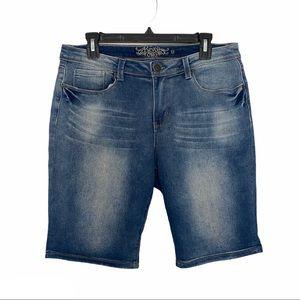 Revolt Bermuda shorts jean denim dark wash blue 12